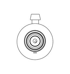 Monochrome contour with digital camera lens vector