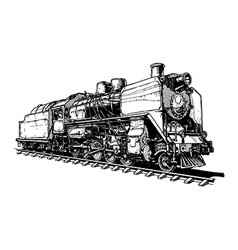 Old steam locomotive vector