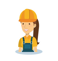 Professional construction woman character vector