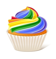 Rainbow Cupcake Love wins vector image