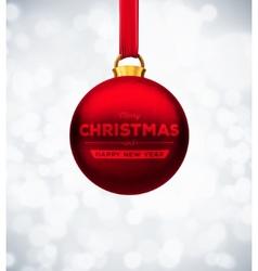 red christmas ball vector image