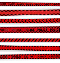 red police line vector image