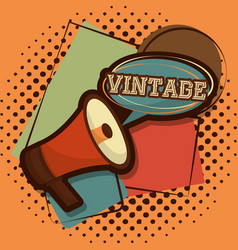Retro vintage device vector