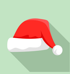 santa hat icon flat style vector image