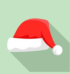 santa hat icon flat style vector image