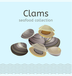 Seafood collection image vector