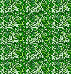 seamless plant and flowers pattern vector image