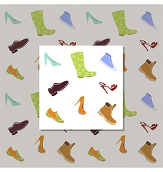 Shoes pattern vector