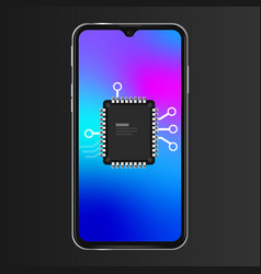 Soc system on a chip smartphone cpu microprocessor vector