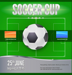 soccer football banner template for game vector image