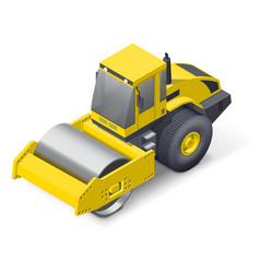 Soil compactor icon vector