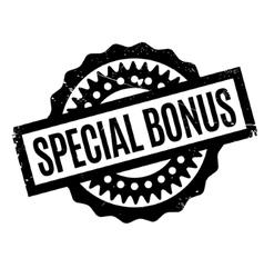 Special Bonus rubber stamp vector