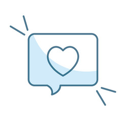Speech bubble with heart love vector