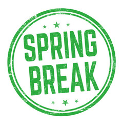 spring break sign or stamp vector image