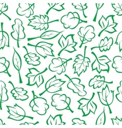Spring green trees and bushes seamless pattern vector image