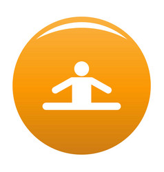 stick figure stickman icon orange vector image