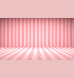 striped candy pink studio backdrop with empty vector image