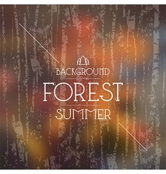 Summer forest background Warm colors vector image