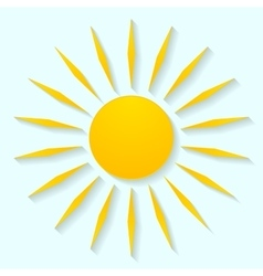 Sun icon graphic design vector