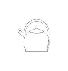 teapot kettle flat icon vector image