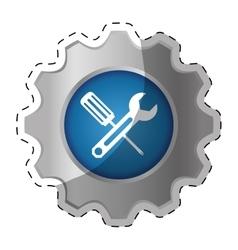 Tecnical repair service emblem icon vector