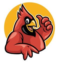 Thumb up cardinal vector