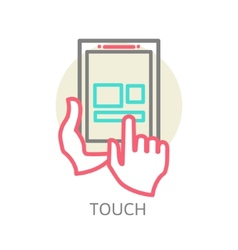 Touch screen tablet PC sign icon vector