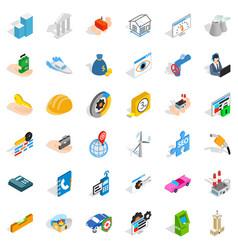 trust icons set isometric style vector image