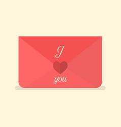 valentines love letter vector image