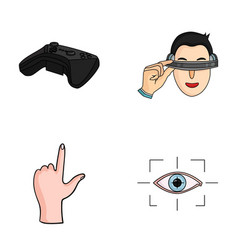 virtual reality helmet computer technology vector image