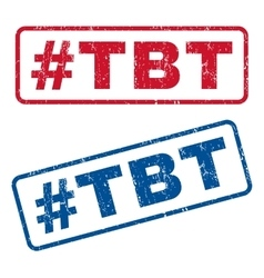 Hashtag Tbt Rubber Stamps vector image