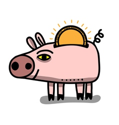 money box pig vector image vector image