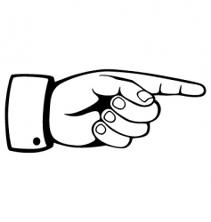 pointing hand vector image