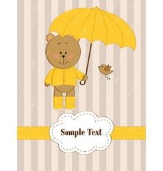 Rain Card vector image vector image