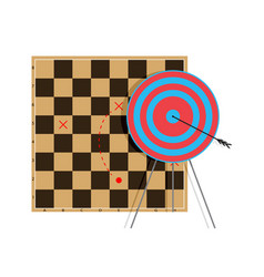 tactic to goal vector image