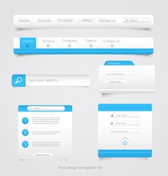 Web site navigation menu pack 2 vector image