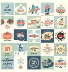 25 Christmas card vector image