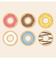 Donut set vector image vector image
