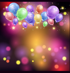 balloons and bokeh lights vector image vector image