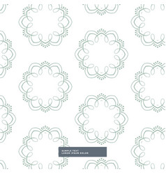 Floral shapes pattern design in white background vector