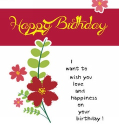 Happy birthday flower vector image vector image