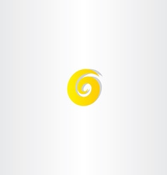 number six 6 yellow logo vector image vector image