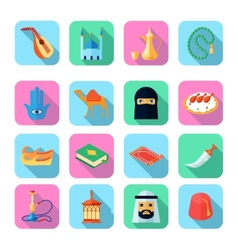 Arabic Culture Icon Flat vector image vector image