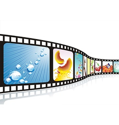 film strip with nice pictures vector image vector image