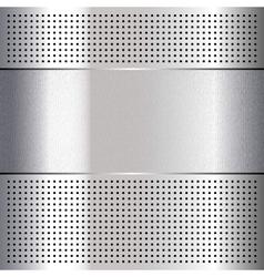 Metallic perforated chromium steel sheet 10eps vector image vector image