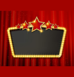 retro frame with five stars vector image vector image
