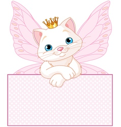 adorable princess cat vector image