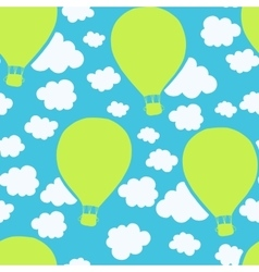 Air balloons seamless pattern vector