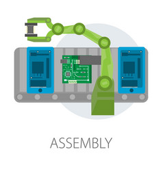 Assembly smartphone internal structure microscheme vector