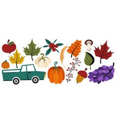 Autumn thanksgiving holiday clipart vector